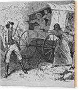 Armed Fugitive Slave Family Defending Wood Print