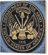 Army Medallion Wood Print
