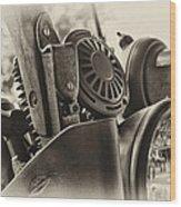 Army Motorcycle Wood Print