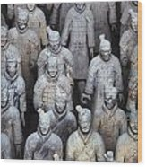 Army Of Terracotta Warriors In Xian Wood Print