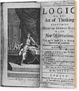 Arnauld & Nicole: Logic Wood Print