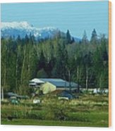 Around Cascade Peak Wood Print