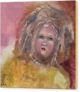 Arranbee Nancy Lee Doll Wood Print by Susan Hanlon