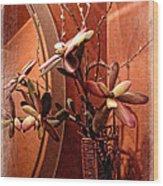 Arrangement In Mirror Wood Print