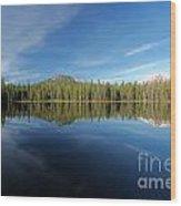 Arrow At Summit Lake Wood Print