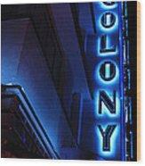 Colony Hotel Art Deco District Miami 2 Wood Print