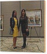 Art Exhibit Paintings Wood Print