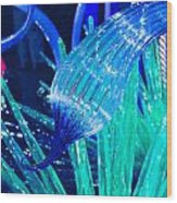 Art Glass In Turquoise Wood Print