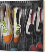 Art Shoes Wood Print