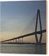 Arthur Ravenel Jr Bridge Over The Cooper River Charleston Sc Wood Print
