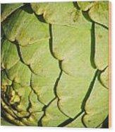 Artichoke Wood Print by Connie Cooper-Edwards