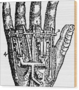 Artificial Hand Designed By Ambroise Wood Print