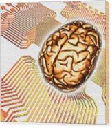 Artificial Intelligence, Computer Artwork Wood Print
