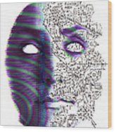 Artificial Intelligence Wood Print by Neal Grundy