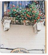 Artisan's Balcony Wood Print by Gordon Wood