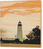 Artistic Madisonville Lighthouse Wood Print