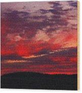 Artistic Sunset Over Hudson River Wood Print