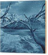 Artists Concept Of A Dangerous Snow Wood Print by Mark Stevenson
