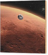 Artists Concept Of Nasas Mars Science Wood Print