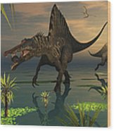 Artists Concept Of Spinosaurus Wood Print
