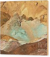 Artists Palette Death Valley Wood Print
