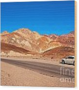 Artists Palette In Death Valley California Wood Print