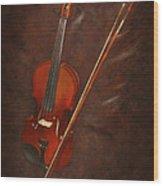 Artist's Violin Wood Print