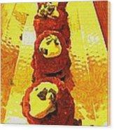 Artsy Kebabs Wood Print