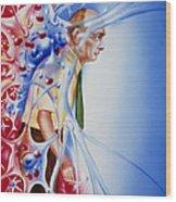 Artwork Depicting Parkinson's Disease Wood Print