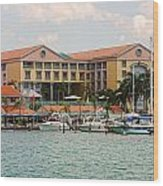 Aruba Water Front Wood Print