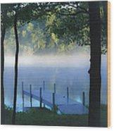 As The Lake Awakens Wood Print