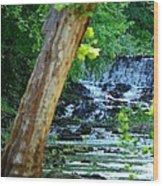 As The River Runs Through It Wood Print