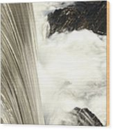 As The Water Falls Wood Print