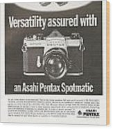 Asahi Pentax Spotmatic Wood Print