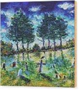 The Jolly Cemetery Wood Print