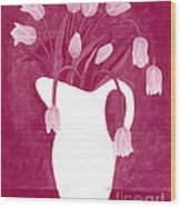 Ashes Of Roses Tulips Wood Print