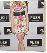 Ashley Greene At Arrivals For Push Wood Print