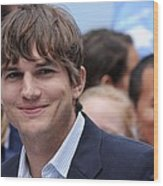 Ashton Kutcher At The Press Conference Wood Print by Everett