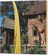 Asia Theming And Flags At Animal Kingdom Walt Disney World Prints Wood Print