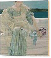 Ask Me No More Wood Print by Sir Lawrence Alma-Tadema