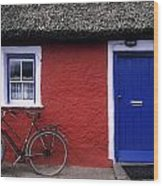 Askeaton, Co Limerick, Ireland, Bicycle Wood Print
