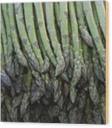 Asparagus At A Market In Provence Wood Print