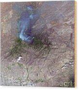Aspen Fire, Arizona Wood Print