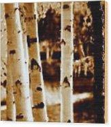Aspens Lll Wood Print