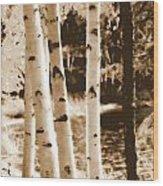 Aspens Llll Wood Print
