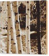 Aspens S L Wood Print