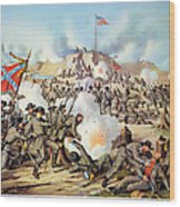 Assault On Fort Sanders Wood Print by Granger
