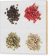 Assorted Peppercorns Wood Print