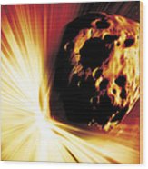 Asteroid Deflection, Stand-off Explosion Wood Print