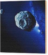 Asteroids Wood Print by Detlev Van Ravenswaay